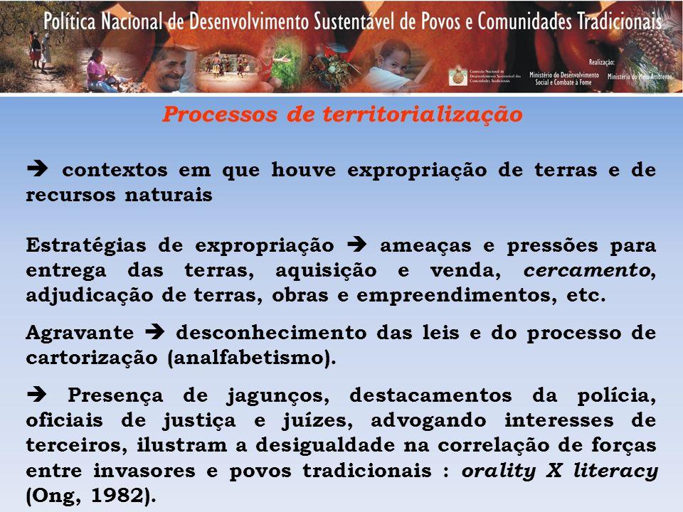 Processos de territorialização