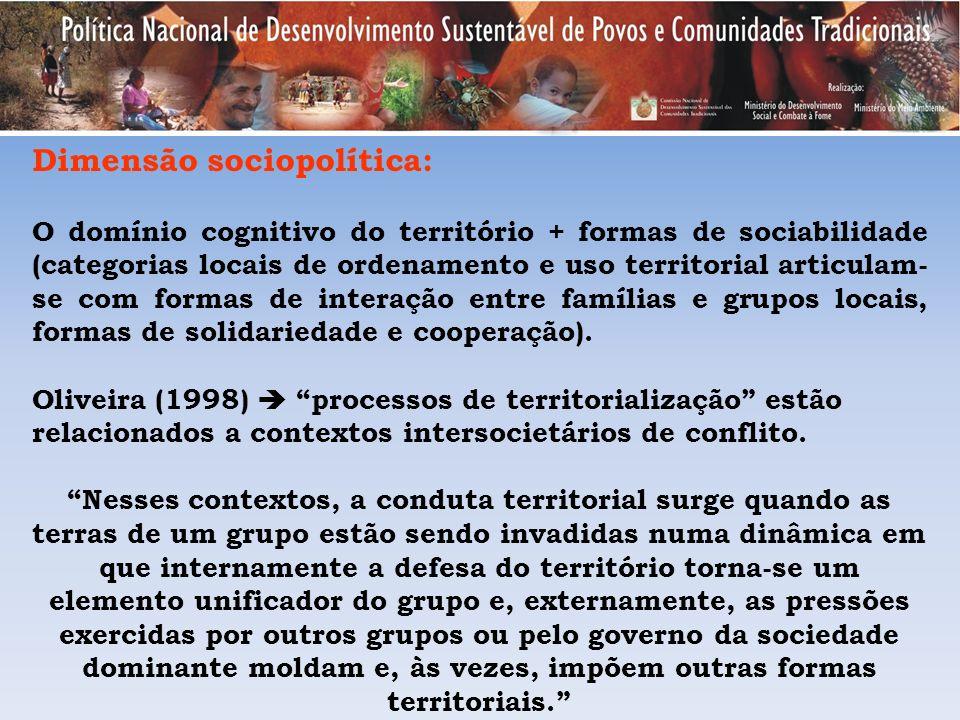 Dimensão sociopolítica: