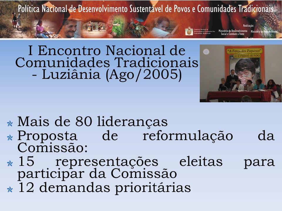 I Encontro Nacional de Comunidades Tradicionais - Luziânia (Ago/2005)