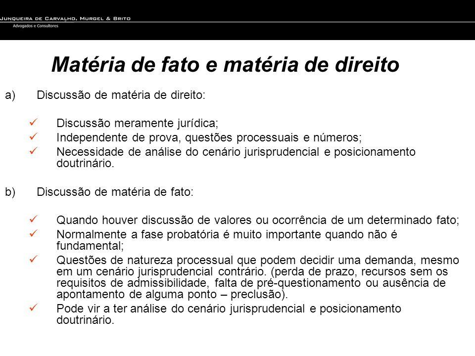 Matéria de fato e matéria de direito