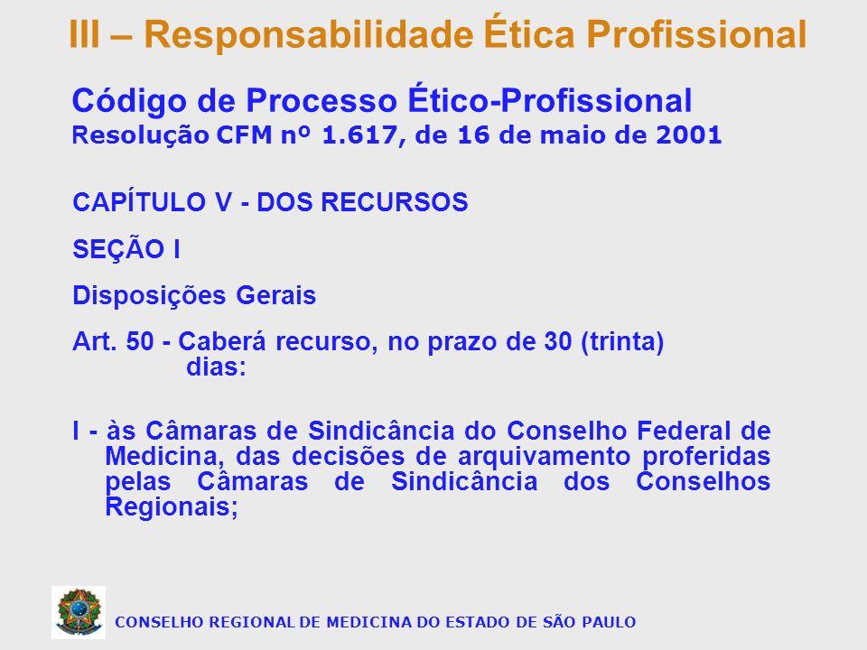 CONSELHO REGIONAL DE MEDICINA DO ESTADO DE SÃO PAULO