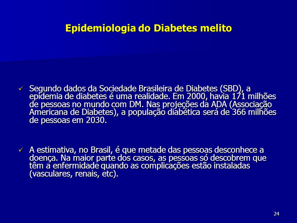 Epidemiologia do Diabetes melito