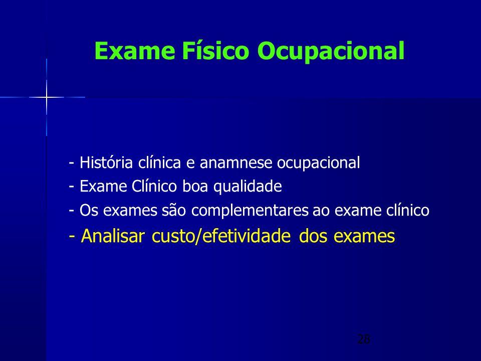 Exame Físico Ocupacional