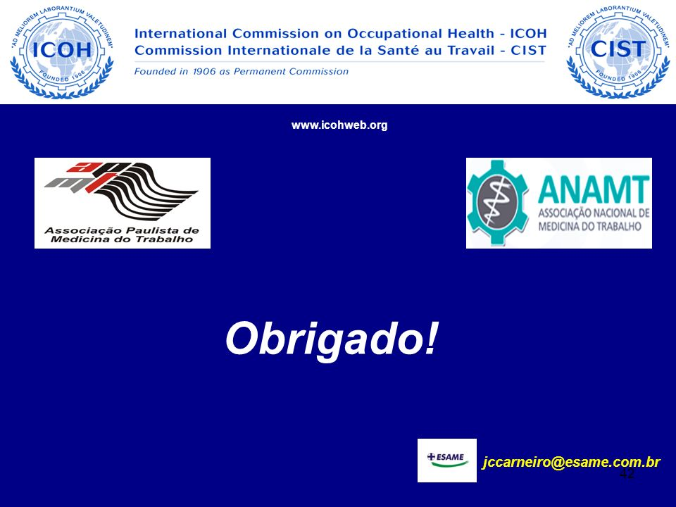 www.icohweb.org Obrigado! jccarneiro@esame.com.br