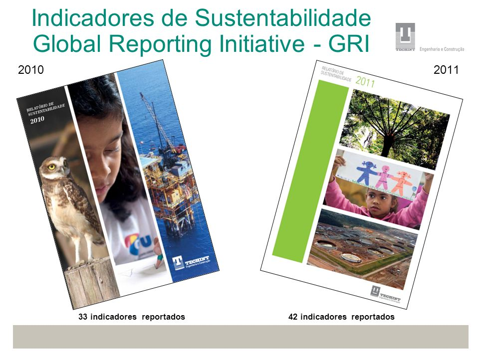 Indicadores de Sustentabilidade Global Reporting Initiative - GRI