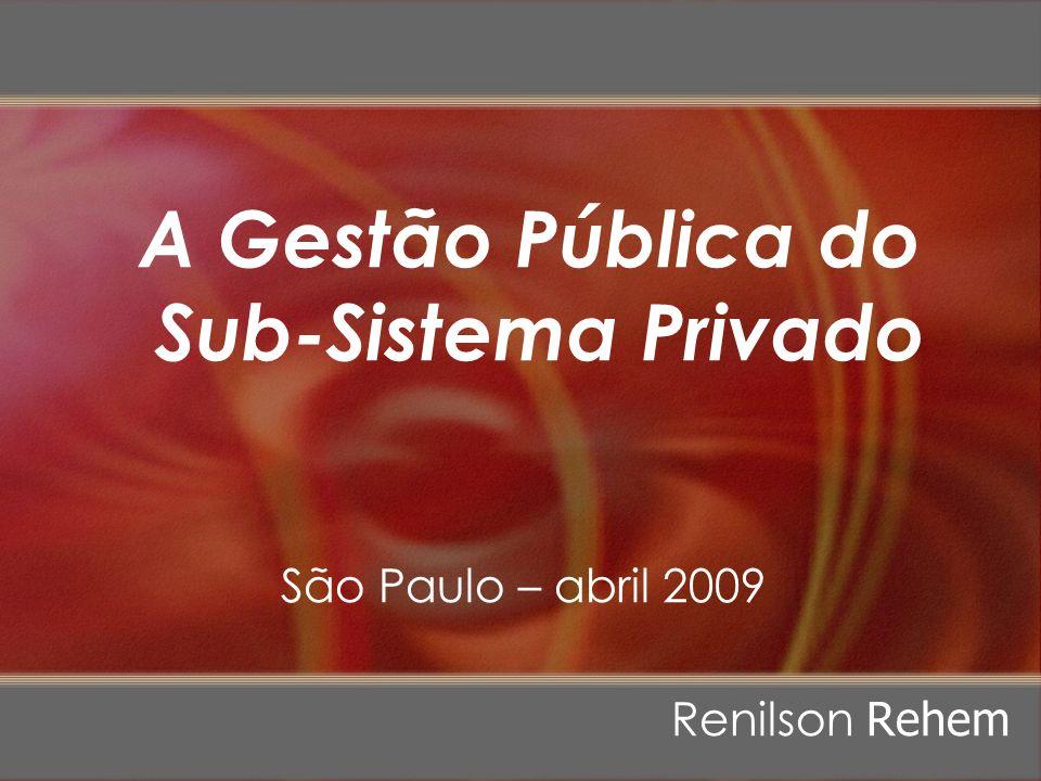 A Gestão Pública do Sub-Sistema Privado