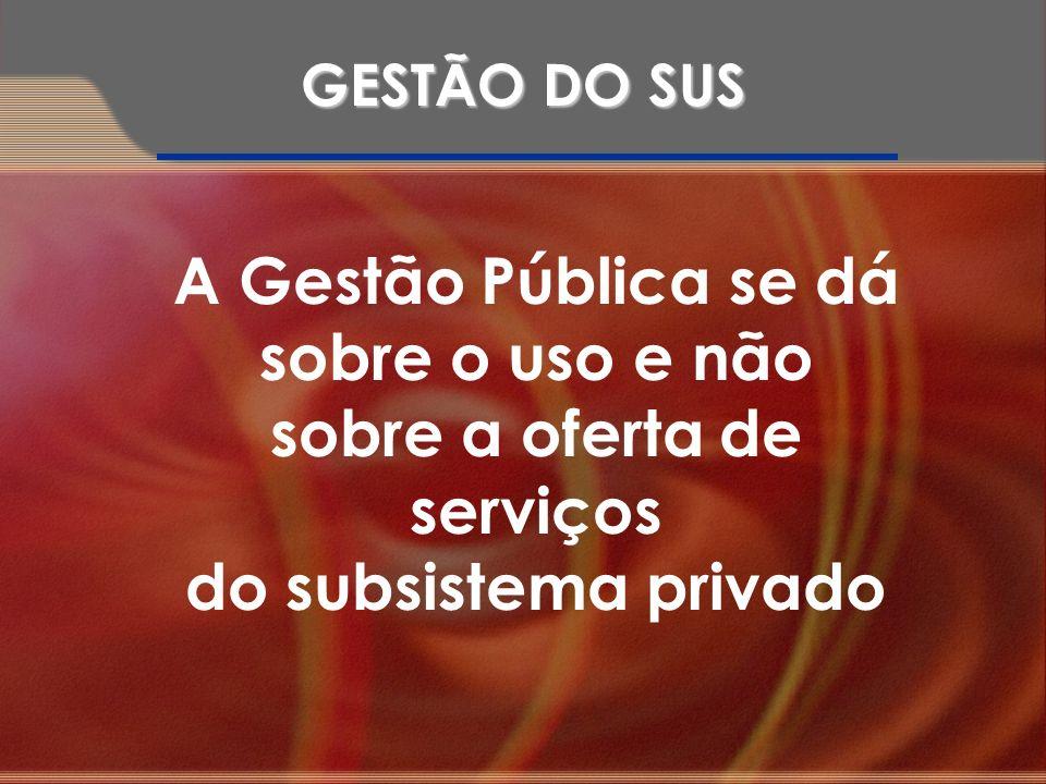 A Gestão Pública se dá sobre o uso e não sobre a oferta de serviços