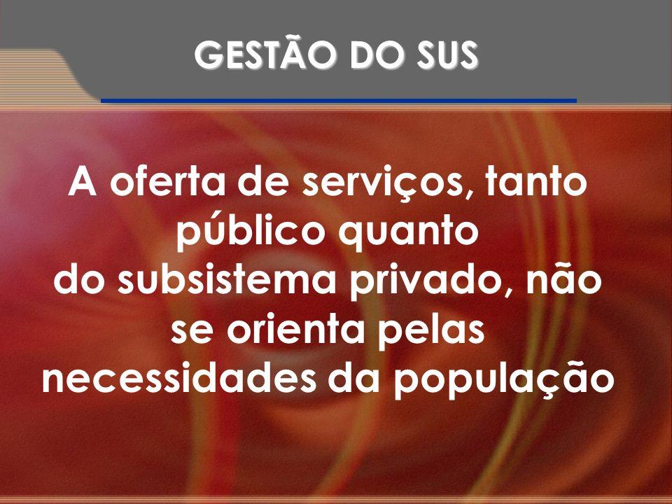A oferta de serviços, tanto público quanto