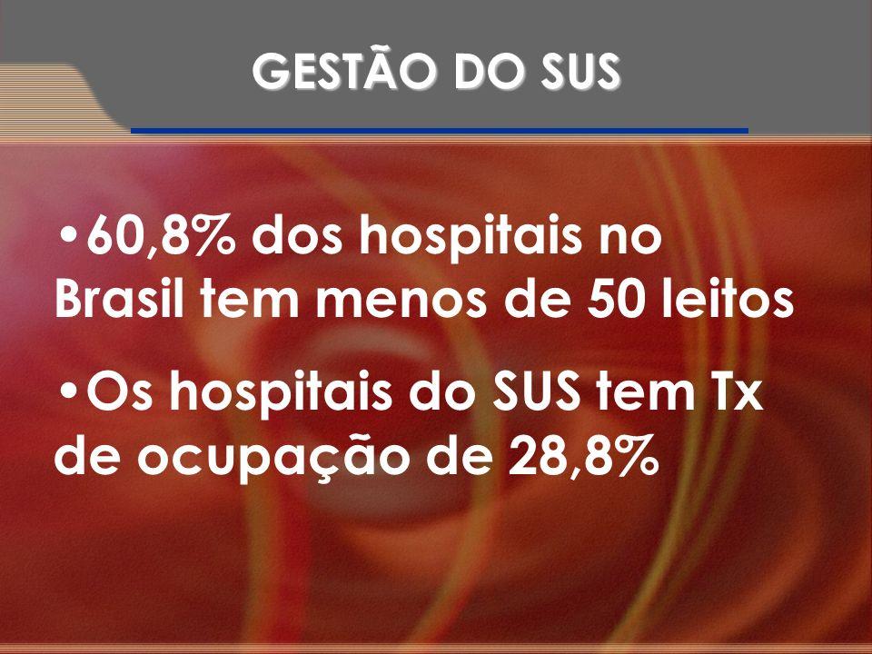 60,8% dos hospitais no Brasil tem menos de 50 leitos