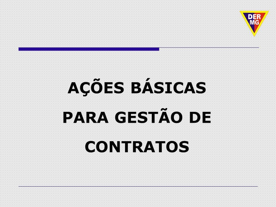 AÇÕES BÁSICAS PARA GESTÃO DE CONTRATOS