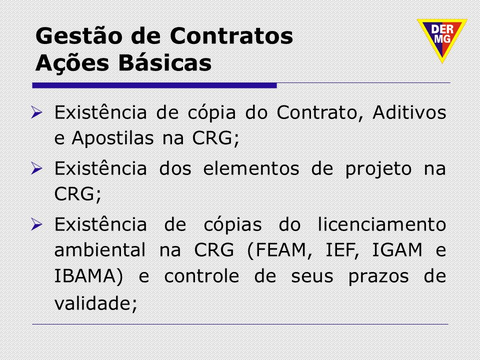 Gestão de Contratos Ações Básicas