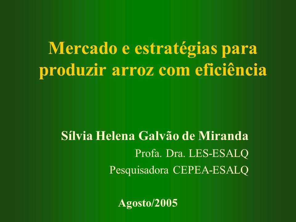 Mercado e estratégias para produzir arroz com eficiência