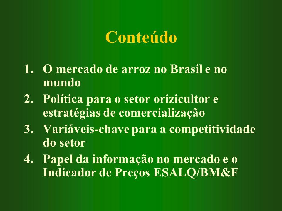 Conteúdo O mercado de arroz no Brasil e no mundo
