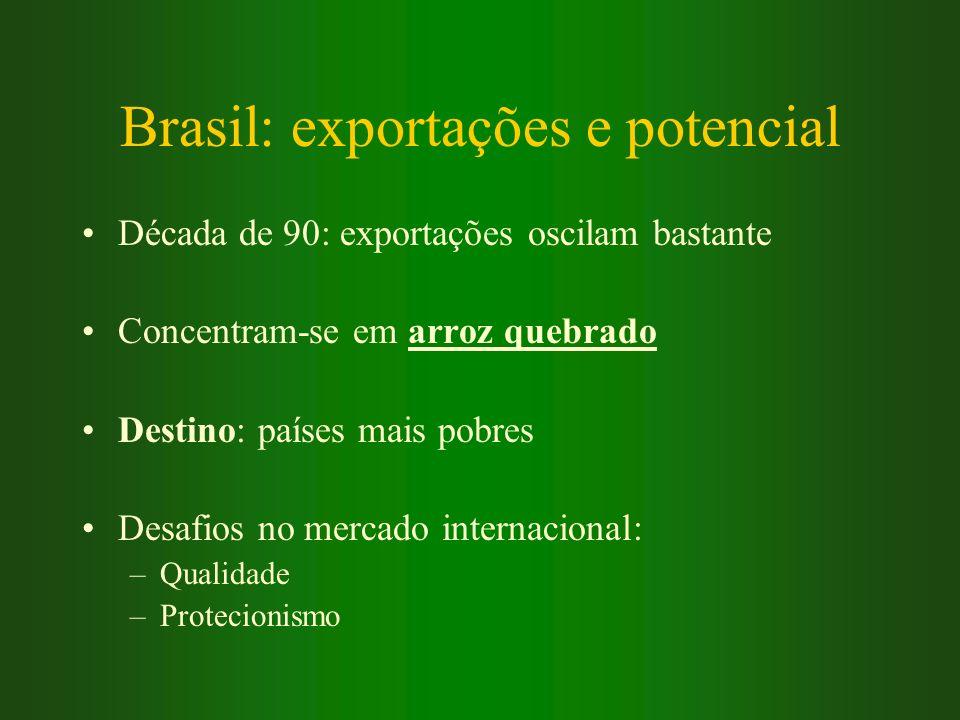Brasil: exportações e potencial