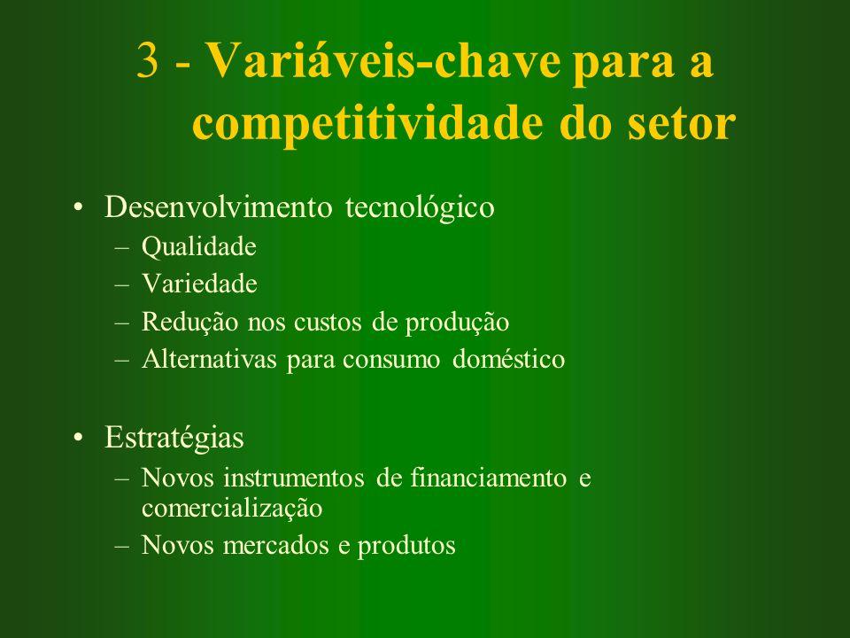3 - Variáveis-chave para a competitividade do setor