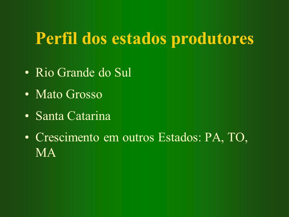 Perfil dos estados produtores