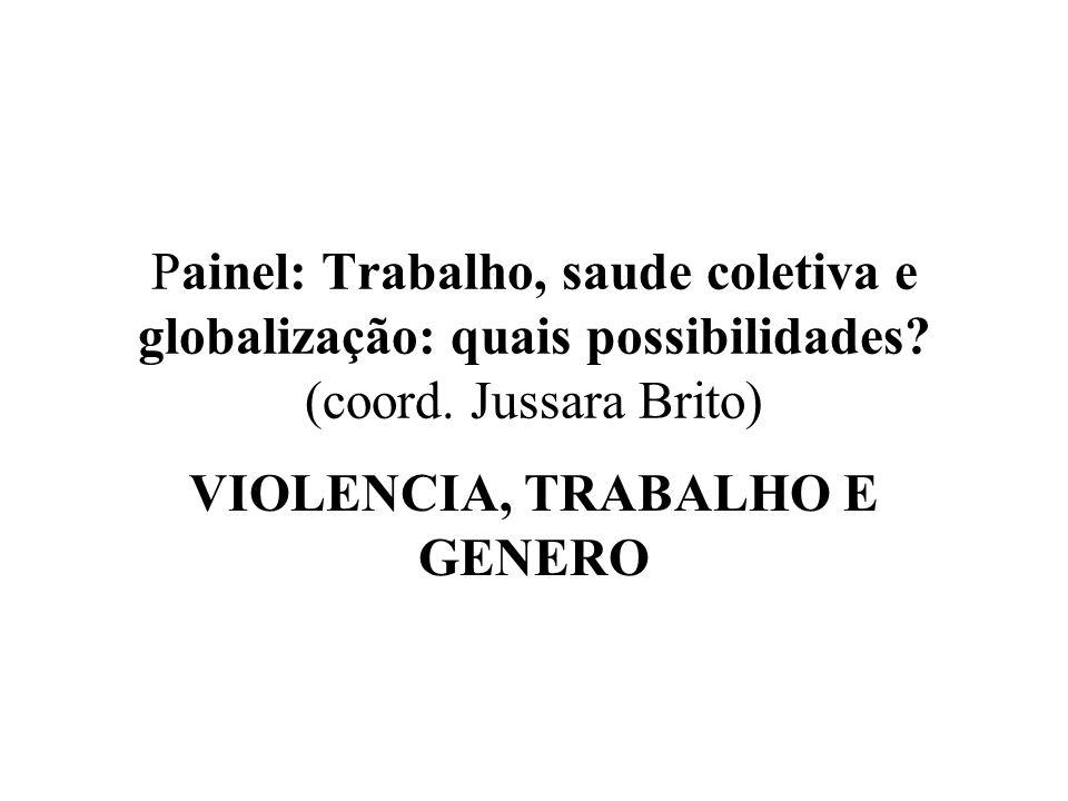 VIOLENCIA, TRABALHO E GENERO
