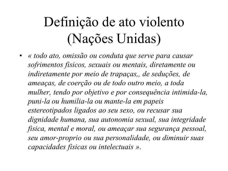 Definição de ato violento (Nações Unidas)