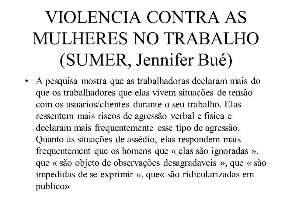 VIOLENCIA CONTRA AS MULHERES NO TRABALHO (SUMER, Jennifer Bué)