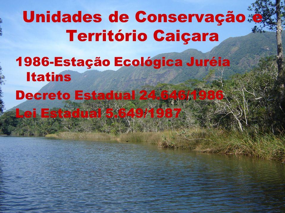 Unidades de Conservação e Território Caiçara