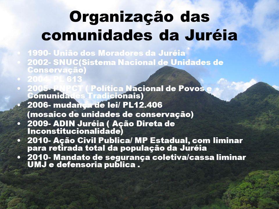 Organização das comunidades da Juréia