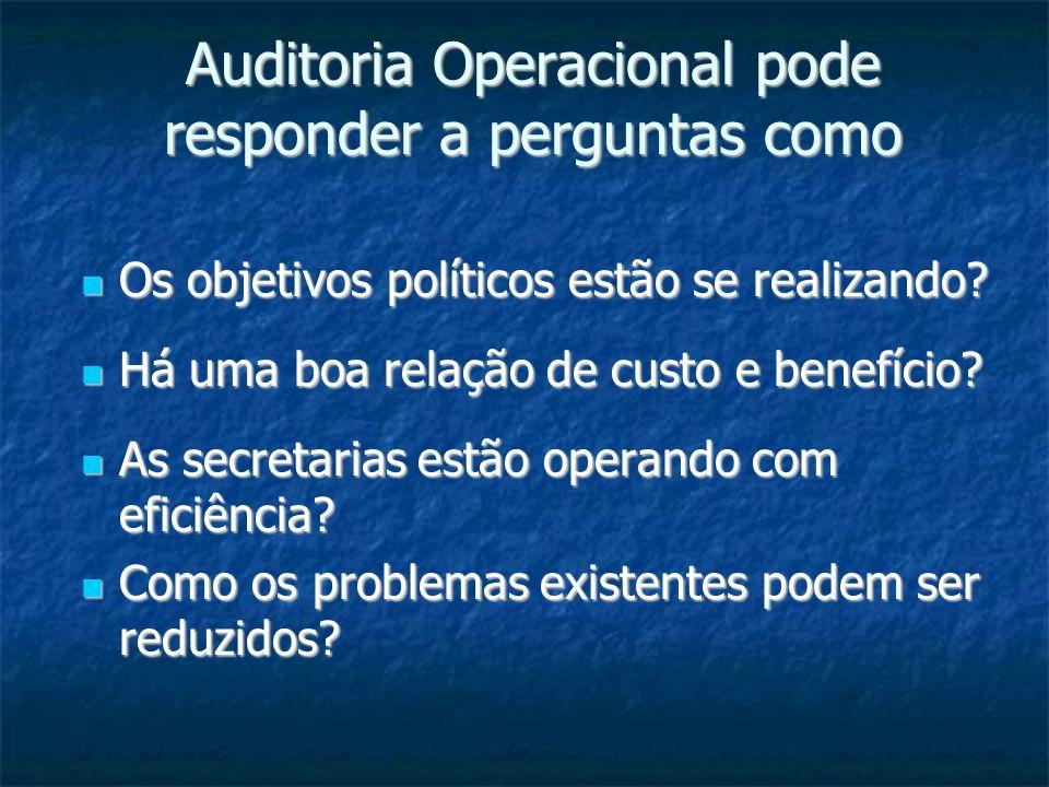 Auditoria Operacional pode responder a perguntas como