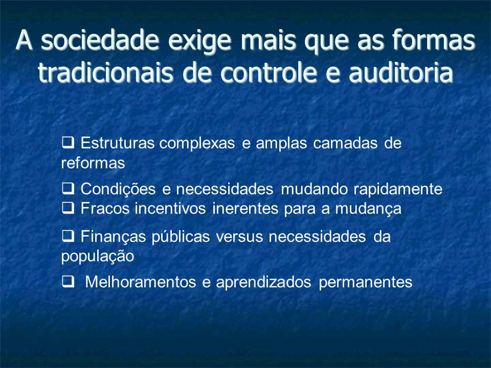 A sociedade exige mais que as formas tradicionais de controle e auditoria