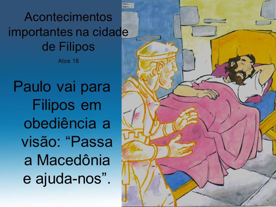 Acontecimentos importantes na cidade de Filipos