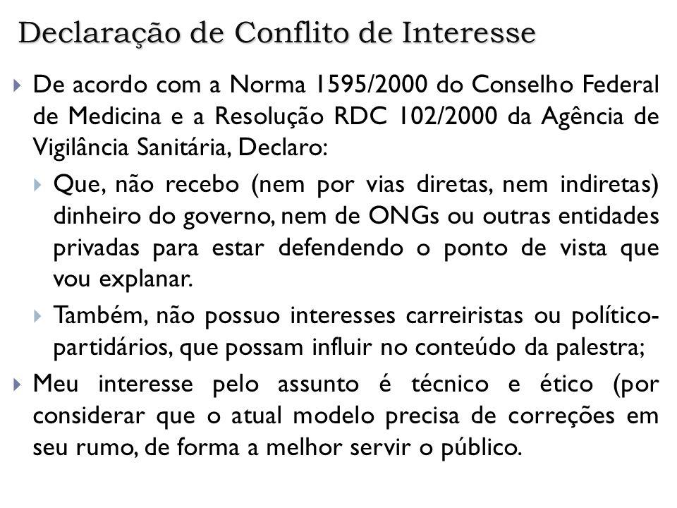 Declaração de Conflito de Interesse