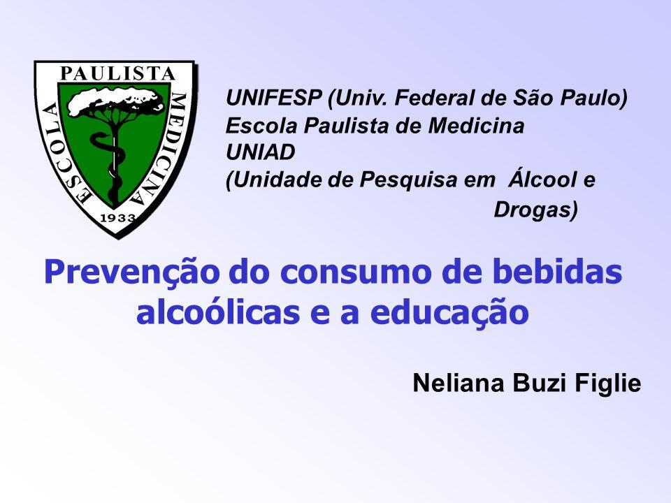 Prevenção do consumo de bebidas alcoólicas e a educação