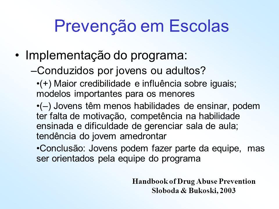 Handbook of Drug Abuse Prevention