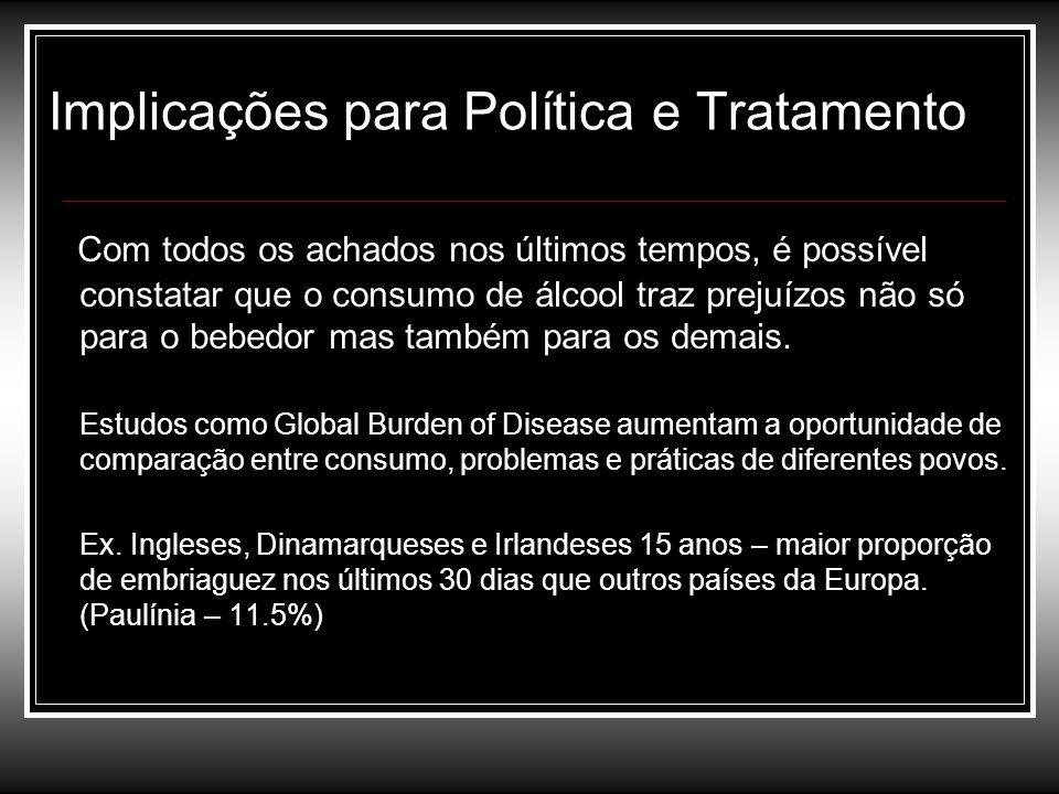 Implicações para Política e Tratamento