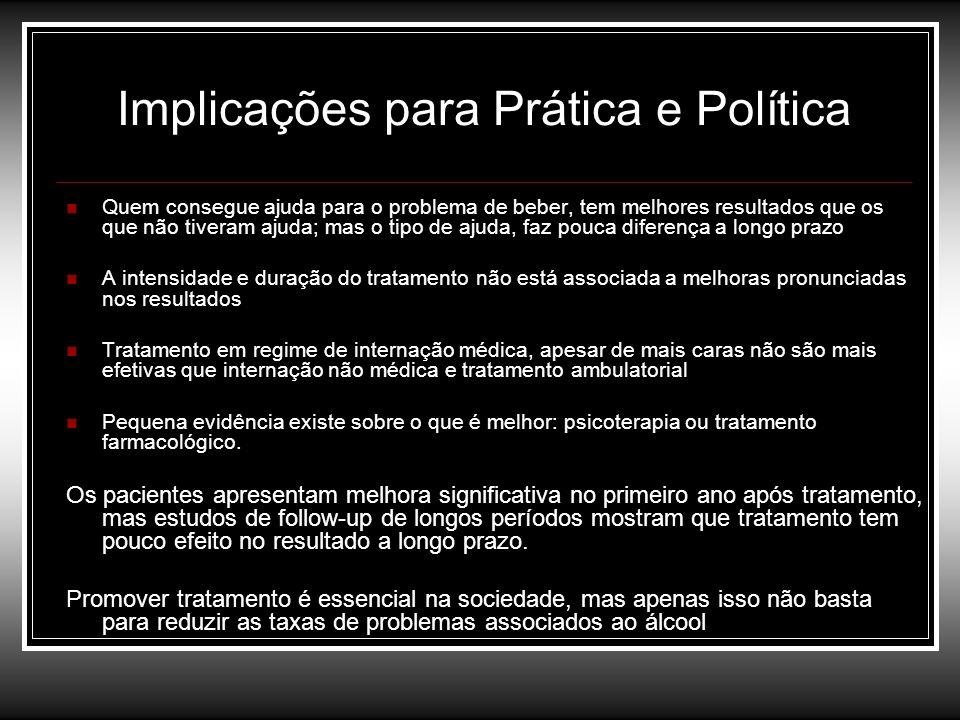 Implicações para Prática e Política