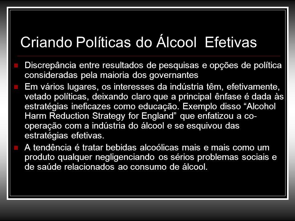 Criando Políticas do Álcool Efetivas