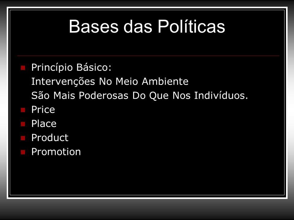 Bases das Políticas Princípio Básico: Intervenções No Meio Ambiente
