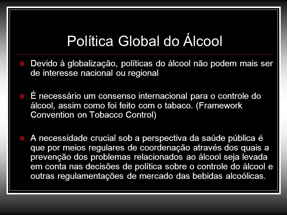 Política Global do Álcool