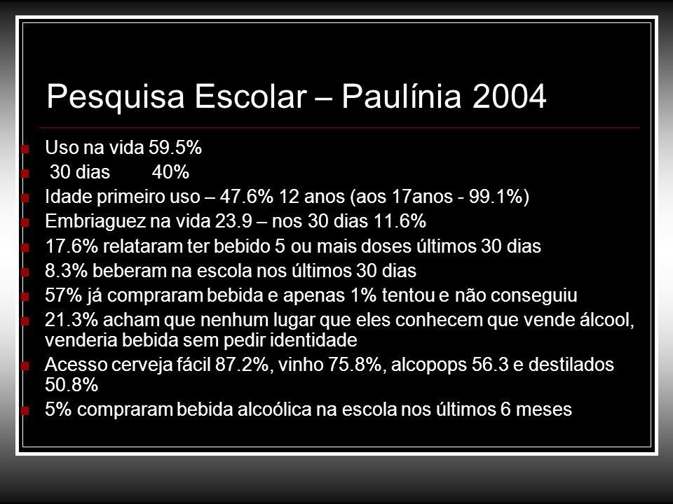 Pesquisa Escolar – Paulínia 2004