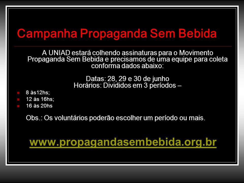 Campanha Propaganda Sem Bebida