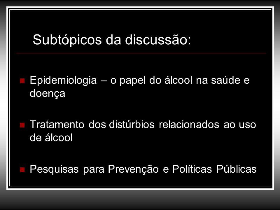 Subtópicos da discussão: