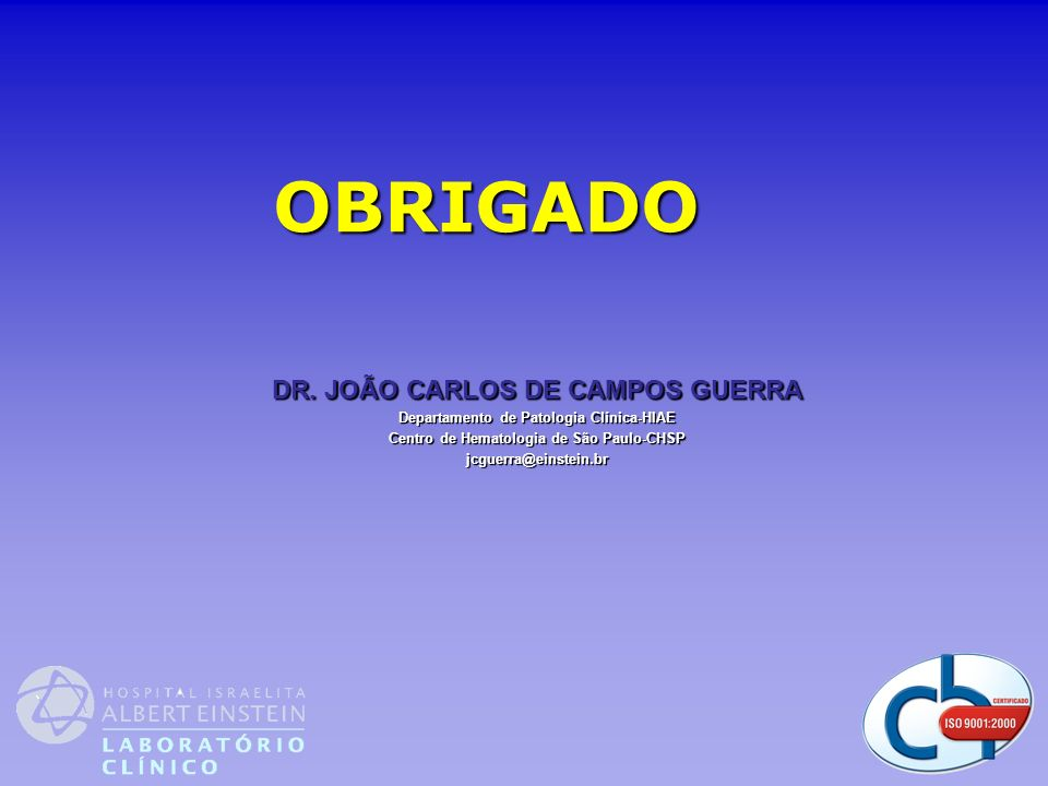 OBRIGADO DR. JOÃO CARLOS DE CAMPOS GUERRA