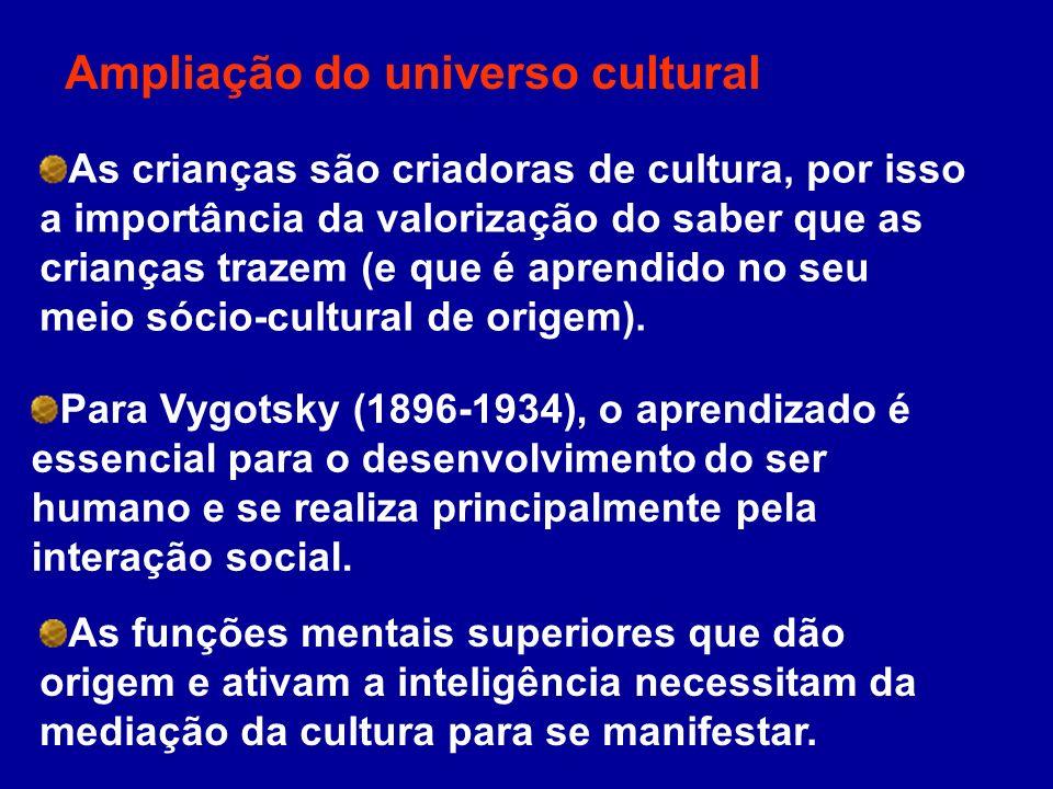 Ampliação do universo cultural
