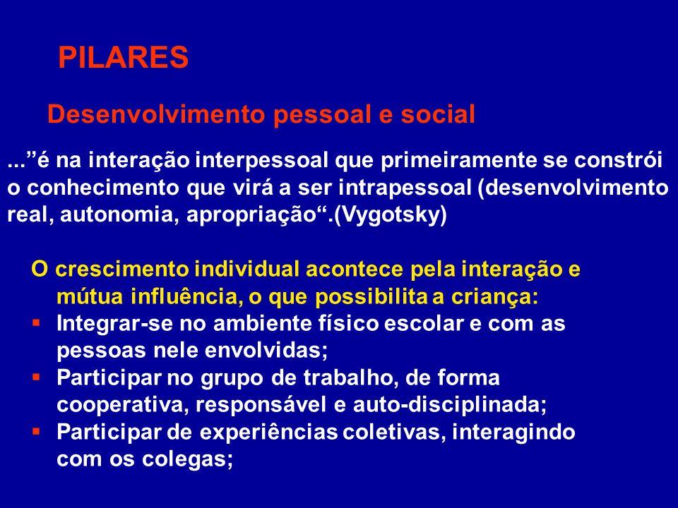 PILARES Desenvolvimento pessoal e social