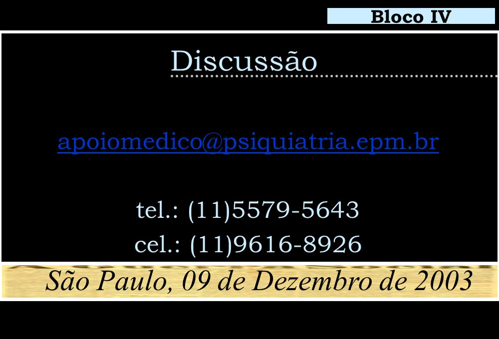 São Paulo, 09 de Dezembro de 2003