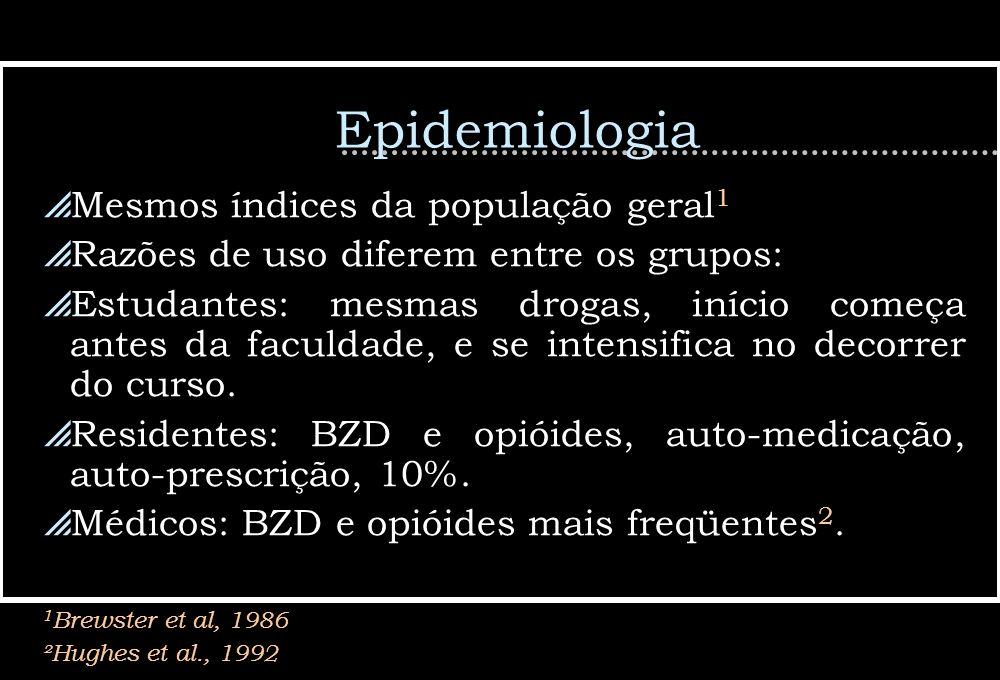 Epidemiologia Mesmos índices da população geral1
