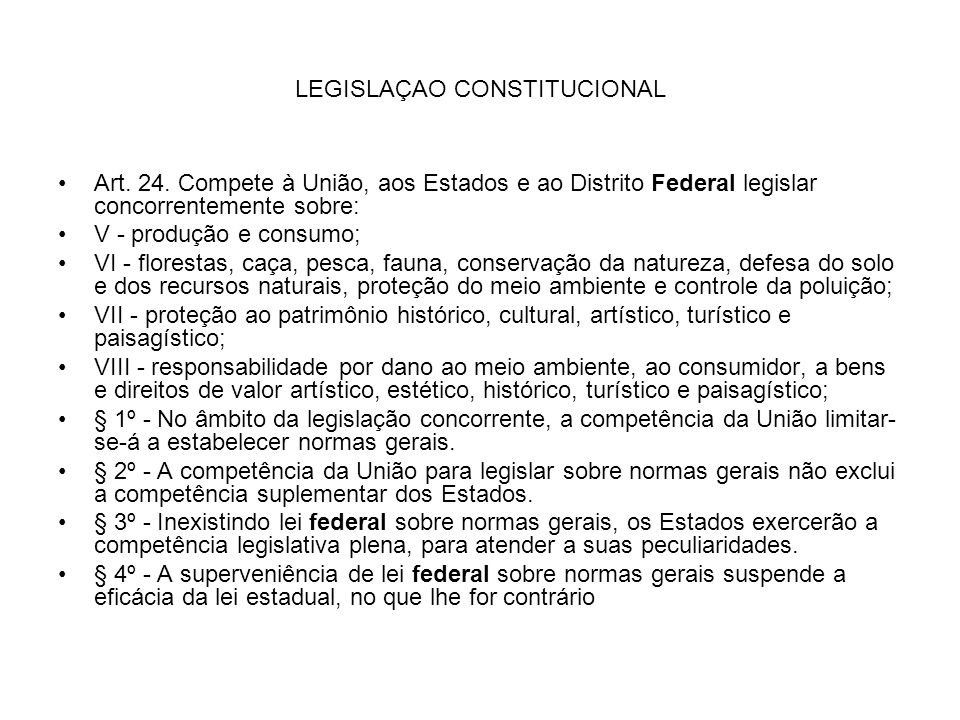 LEGISLAÇAO CONSTITUCIONAL