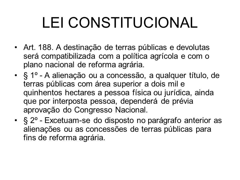 LEI CONSTITUCIONAL