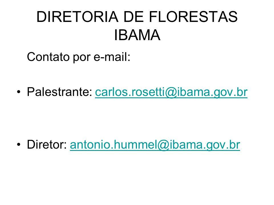 DIRETORIA DE FLORESTAS IBAMA