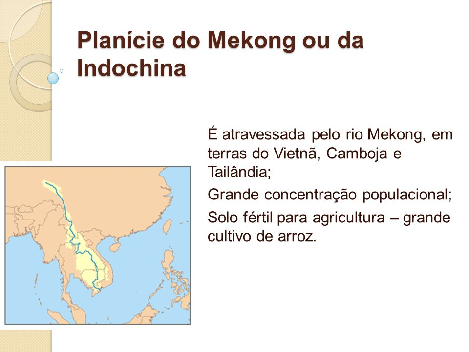 Planície do Mekong ou da Indochina
