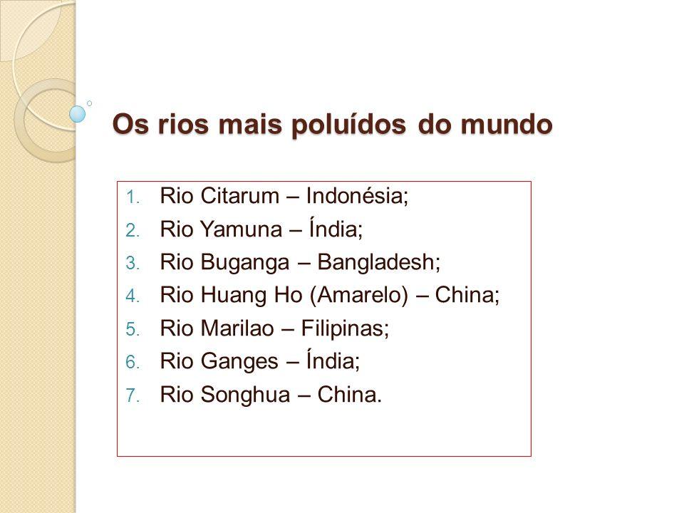 Os rios mais poluídos do mundo