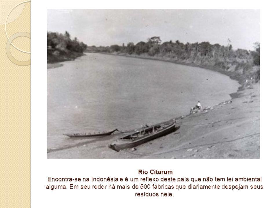 Rio Citarum Encontra-se na Indonésia e é um reflexo deste país que não tem lei ambiental alguma.